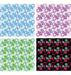 Four colorful shape templates vector