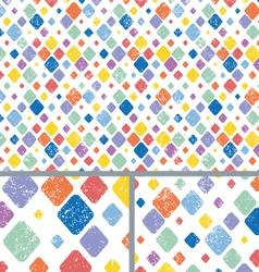 Vintage diamond polka dots distressed vector