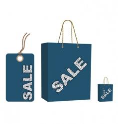 Sale bag and tag set vector