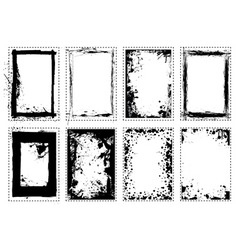 Splat grunge picture frame vector