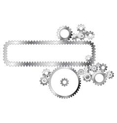 Metal cogwheels vector