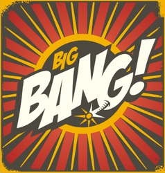 Big bang retro sign template vector