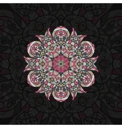 Pink mandala template for menu greeting card vector