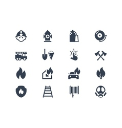 Firefighters icons vector