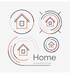 Thin line neat design logo set home idea vector