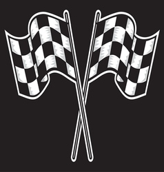 Racing flag dve kontrast vector