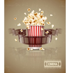 Jumping popcorn and movie vector
