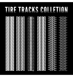 Tire track collection vector