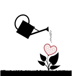 Plant with heart vector