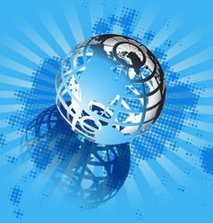 Blue and globe vector