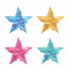 Creative polygon stars vector