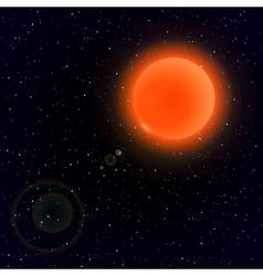 Cartoon sun in open space vector