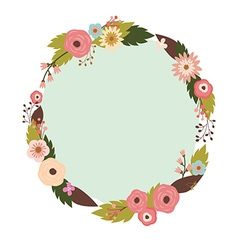 Elegant floral wreath vector