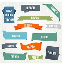 Ribbon and banner set vector
