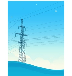 High-voltage tower background vector