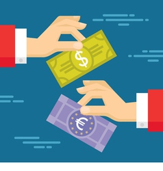 Currency exchange concept vector