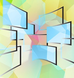 Blue windows on a colored background vector