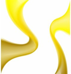 Background with abstract yellow waves vector