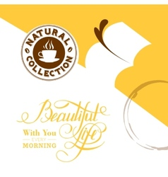 Background with stains of coffee vector