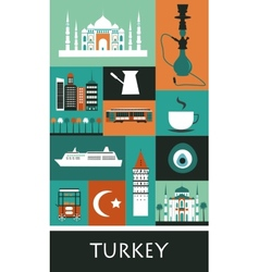 Symbols of turkey vector