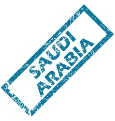Saudi arabia rubber stamp vector