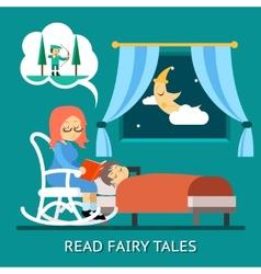 Read fairy tales vector