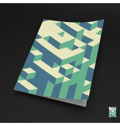A4 business blank 3d blocks structure background vector