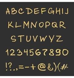 Handwritten gold alphabet vector
