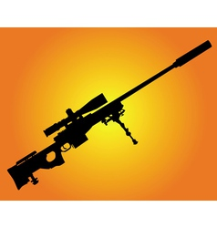 Sniper rifle vector