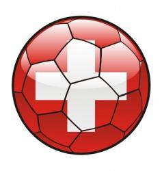 Flag of switzerland on soccer ball vector