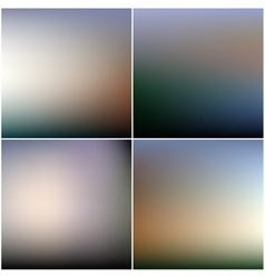 Abstract editable blurred backgrounds set vector