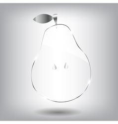 Glass pear beautiful vector