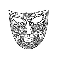 Carnival mask mask stylization vector