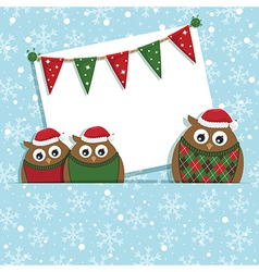 Christmas owls vector