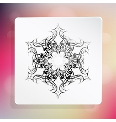 Snowflake as design element vector