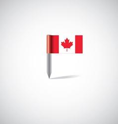 Canada flag pin vector