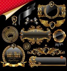 Royal design elements vector