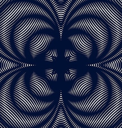 Black and white moire lines striped psychedelic vector