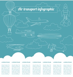 Air transport infographics elements vector
