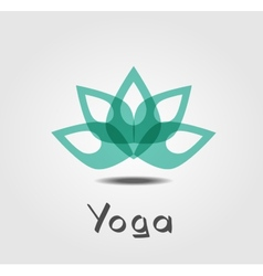 Lotus yoga vector