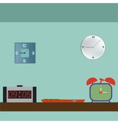 Set of digital retro alarm clock vector