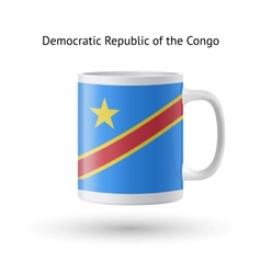Democratic republic of congo flag souvenir mug on vector