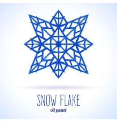 Doodle snow flake vector