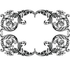 Antique vintage frame vector