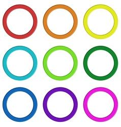 Nine colorful rings vector