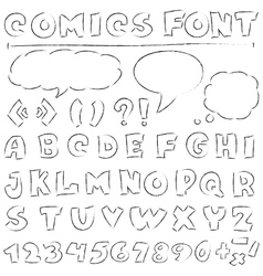 Comics set vector