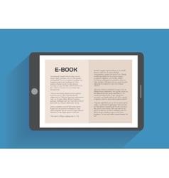 Electronic book flat design concept vector