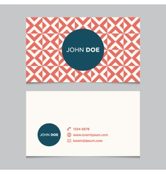 Business card pattern red 10 vector