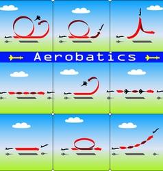 Aerobatics airplane vector
