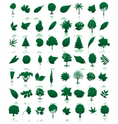 Trees icon vector